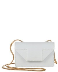 Saint Laurent White Leather Mini Betty Crossbody Bag