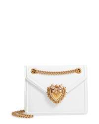 Dolce & Gabbana Small Devotion Leather Shoulder Bag