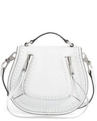 Rebecca Minkoff Small Vanity Leather Saddle Bag Black