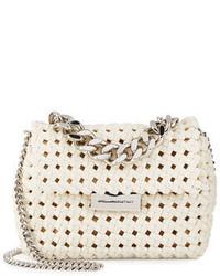 Stella McCartney Bex Small Woven Crossbody Bag Ivory