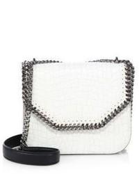 Stella McCartney Falabella Box Croc Embossed Faux Leather Crossbody Bag