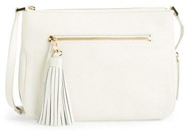 c006aece7a Halogen Tassel Leather Crossbody Bag, $128 | Nordstrom | Lookastic.com