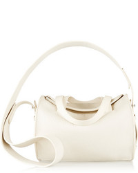 The Row Drum 10 Pebbled Leather Shoulder Bag Off White
