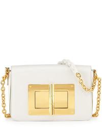 Tom Ford Natalia Medium Chain Crossbody Bag White