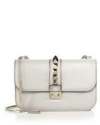 Valentino Rocklock Medium Leather Crossbody Bag
