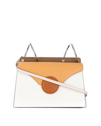 Danse Lente White And Brown Phoebe Leather Cross Body Bag
