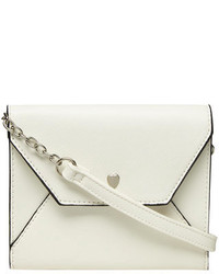 Dorothy Perkins White Heart Mini Crossbody Bag