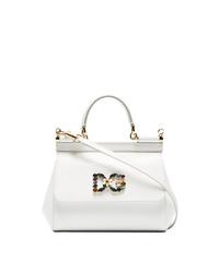 Dolce & Gabbana White Sicily Small Leather Shoulder Bag