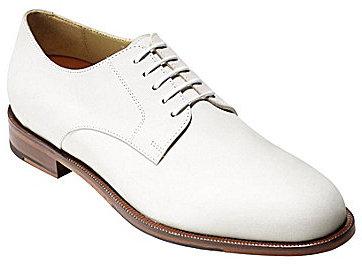 white leather derby shoes cole haan grandos plain