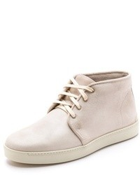 White Leather Desert Boots