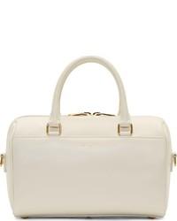 Saint Laurent Ivory Leather Baby Duffle Bag