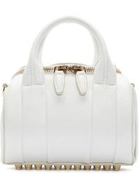 Alexander Wang White Mini Rockie Duffle Bag