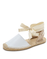 White Leather Espadrilles