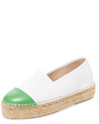 Cap Toe Leather Espadrille