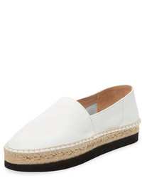Estelle Leather Platform Espadrille