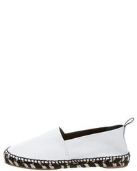 Proenza Schouler Leather Round Toe Espadrilles