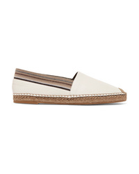 Brunello Cucinelli Med Textured Leather Espadrilles
