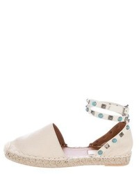 Valentino Rockstud Rolling Leather Espadrilles