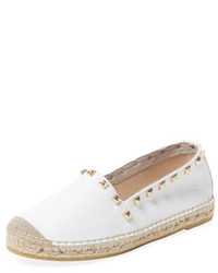 Studded Leather Espadrille
