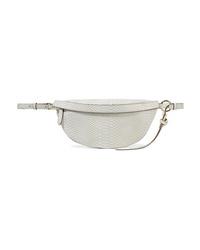 Stella McCartney Python Effect Faux Leather Belt Bag