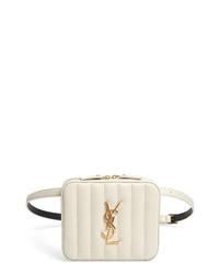 Saint Laurent Vicky Lambskin Leather Belt Bag