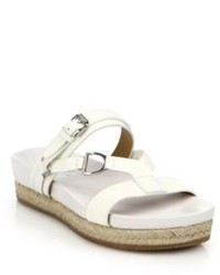 Ralph Lauren Collection Ranita Espadrille Platform Leather Slide Sandals