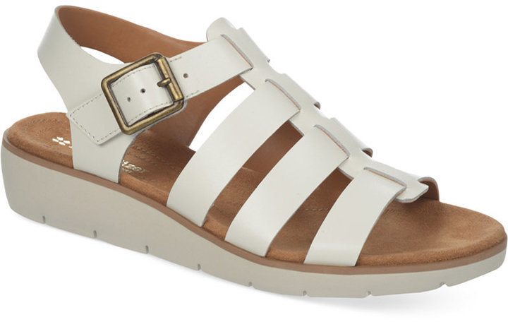 Womens Sandals Naturalizer Donna White Leather