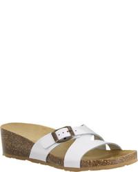 Easy Street Shoes Easy Street Tuscany Sandalo Slide Mocha Nubuck Sandals