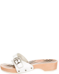 Burberry Leather Slide Sandals
