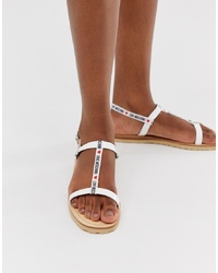 Love Moschino Logo Tape Sandals
