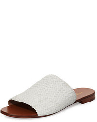 Michael Kors Michl Kors Byrne Woven Flat Slide Sandal