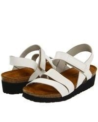 Naot Footwear Kayla Sandals White Leather