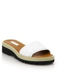 See by Chloe Robin Leather Demi Wedge Slide Sandals