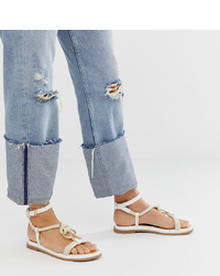 River Island Sandals With Rope Detail In White
