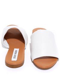 0556e708f7d ... Steve Madden Steven Madden Slidur Black Leather Slide Sandals
