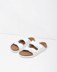 Birkenstock White Leather Arizona Sandal