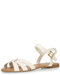 White Shine 2 Part Sandals