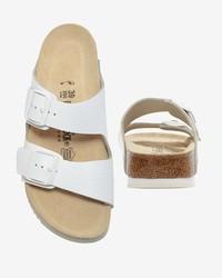 white birkenstock arizona soft footbed