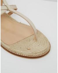 53dc80c496742 Aldo Capro White Caged Tie Up Gladiator Sandals, $91 | Asos ...