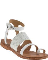 Rag and Bone Chartan Gladiator Sandal White Leather