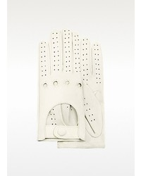 Forzieri Perforated Italian Leather Driving Gloves