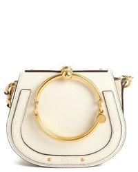 Chloe small nile bracelet leather crossbody bag beige medium 1315363