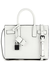 Saint Laurent Sac De Jour Nano Leather Tote