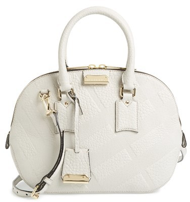 30e729b632c2 ... Burberry Small Orchard Check Embossed Leather Satchel ...