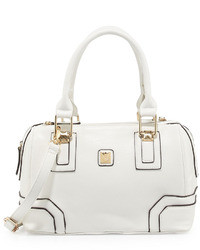 Kooba V Couture By Bacoli Pipe Trimmed Duffel Bag White