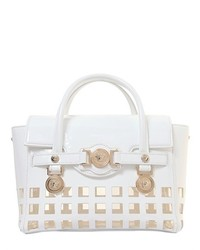 Versace Signature Patent Leather Top Handle Bag