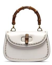 Gucci White Leather Handbag