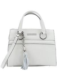 Charles Jourdan White Leather Valentina Convertible Mini Tote Bag