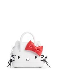 Balenciaga X Hello Kitty Extra Extra Small Aj Logo Calfskin Leather Satchel
