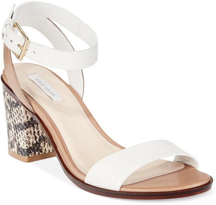 175f8b2c62e1 ... Cole Haan Cambon Mid Heel Sandals ...